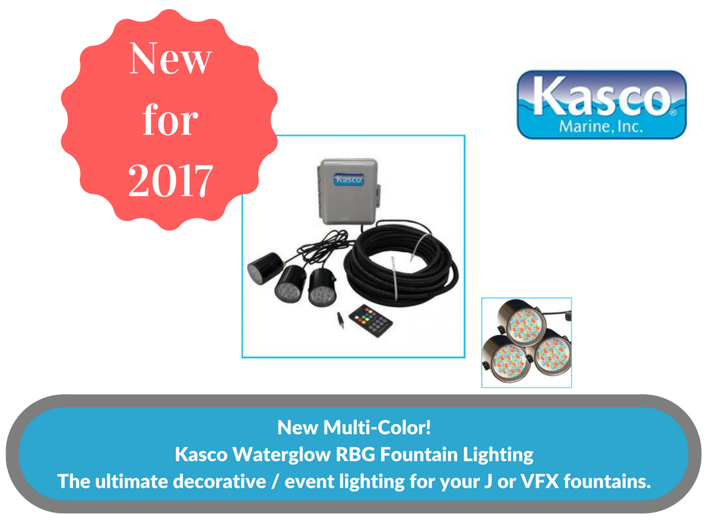 New!  Kasco Multi-Color Fountain Lighting