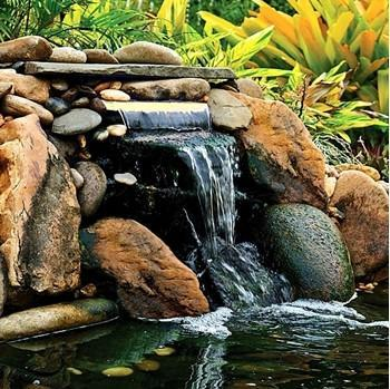 "OASE Lighted Waterfall with White LED 14"" Spillway"