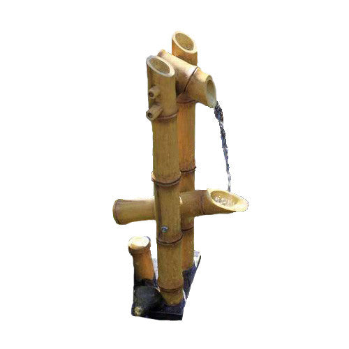 FOUNTAIN DEER SCARE BAMBOO W/PUMP