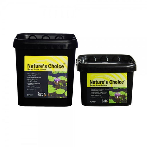 CRYSTAL CLEAR: NATURE'S CHOICE BARLEY STRAW PELLETS