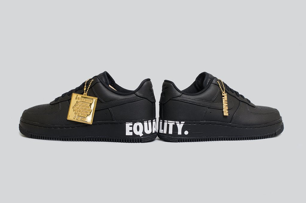 Nike Air Force 1 CMFT Equality QS Black White Gold