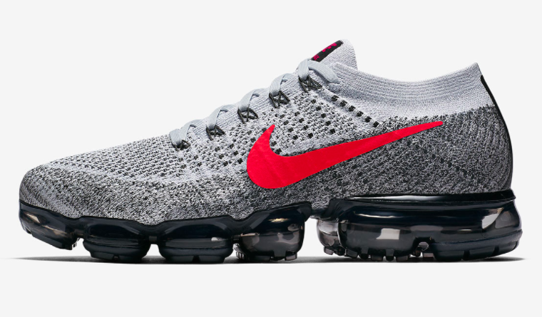 Nike Air VaporMax Flyknit Running Grey Red – EXCLUCITYLIFE 7b5cd3cb159b