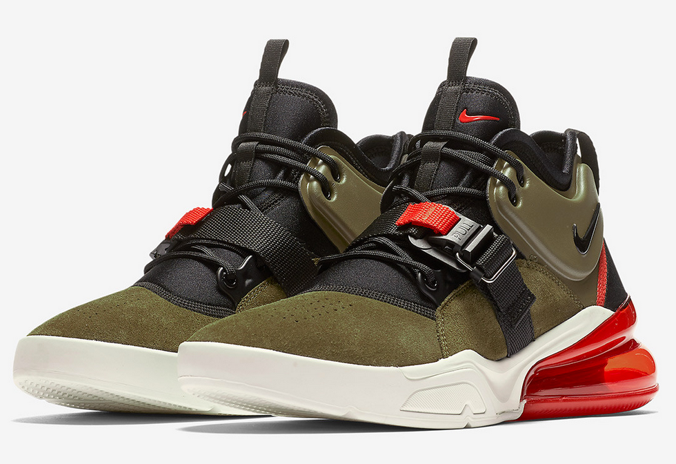 Nike Air Force 270 Medium Olive - Black
