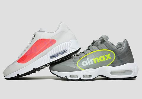 "NIKE AIR MAX 95 NS GPX ""DUST/VOLT"" & AIR MAX 90 NS GPX ""NATURAL GREY/BRIGHT CRIMSON"""
