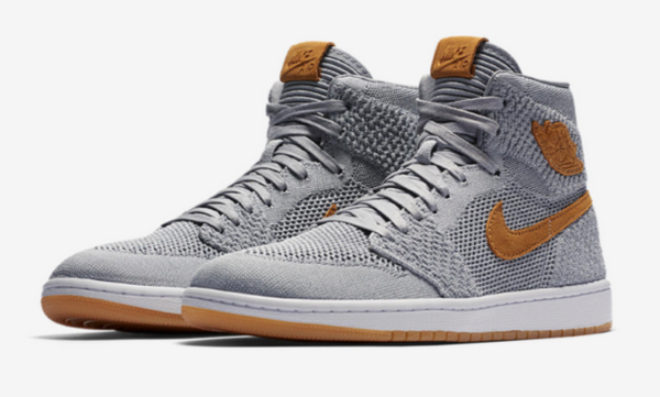 "Air Jordan 1 High Flyknit ""Wolf Grey"""