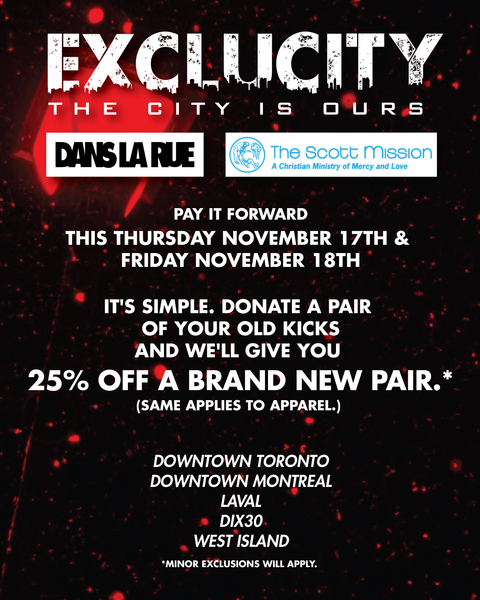 Exclucity x Dans La Rue x The Scott Mission