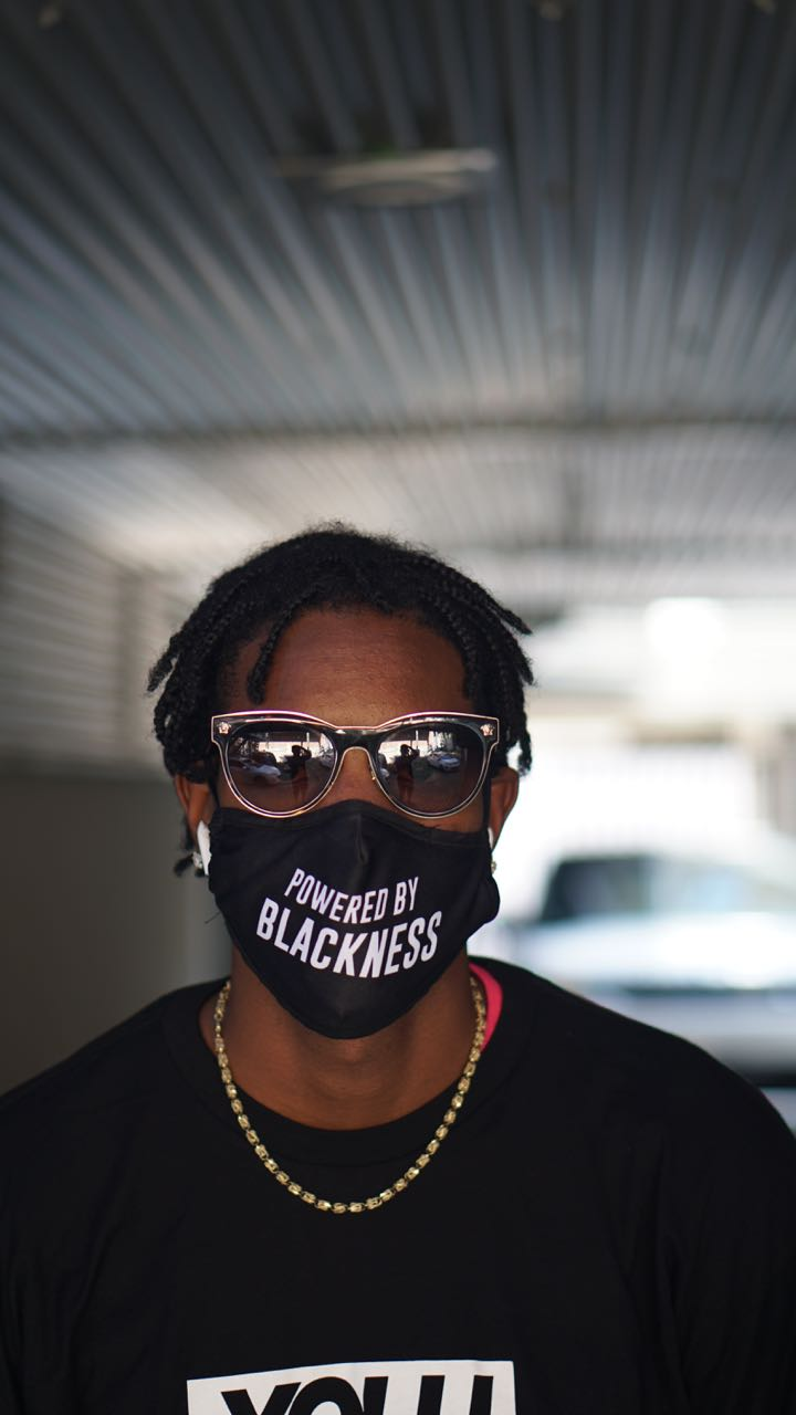 THE POWERED BY BLACKNESS MASK