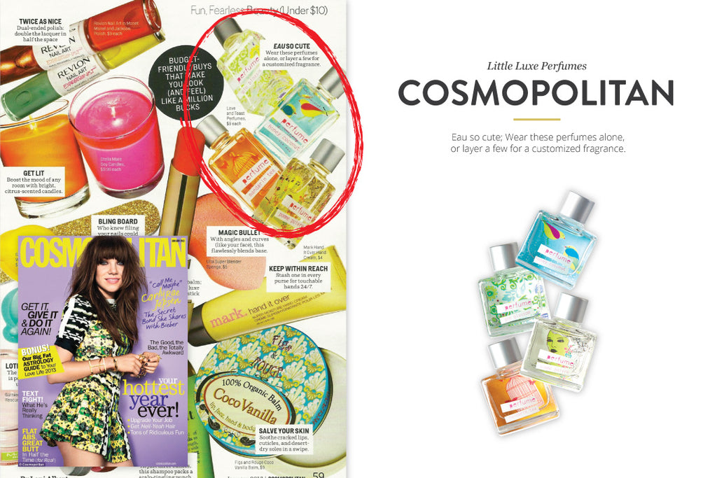 Cosmopolitan featuring Little Luxe Perfumes