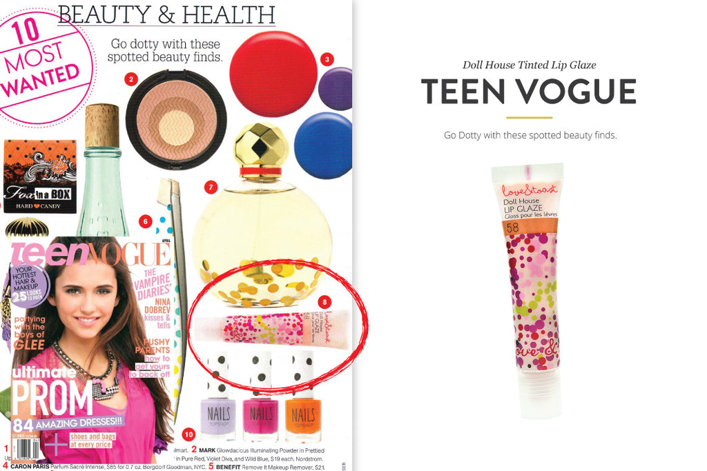 Teen Vogue featuring Doll House Tinted Lip Glaze