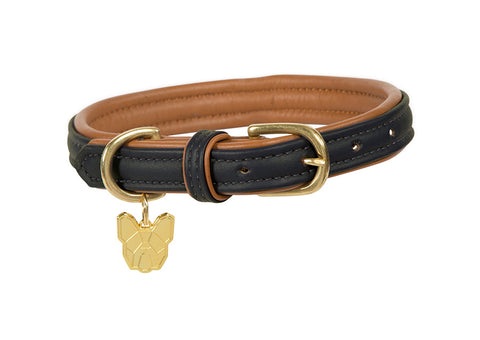 Digby & Fox Padded Leather Dog Collar
