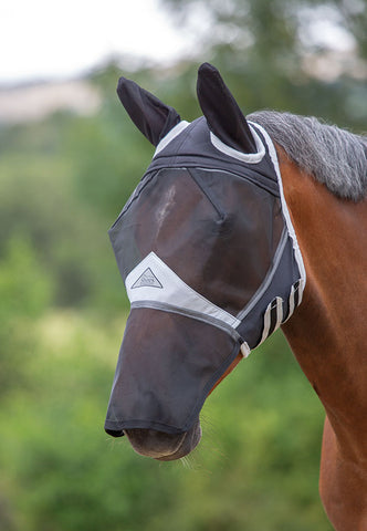 Fine Mesh Fly Mask with Ears & Nose 60+% UV