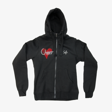 Cheer Pink Heart Jacket Black