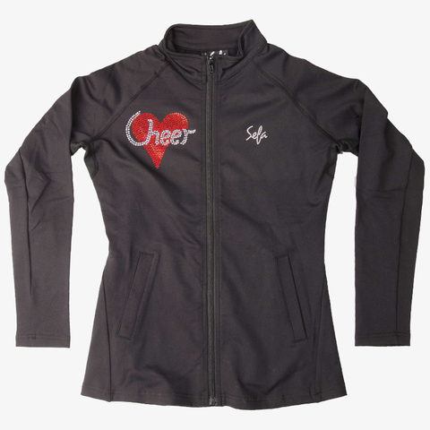 Cheer Heart Rhinestone Slimfit Jacket