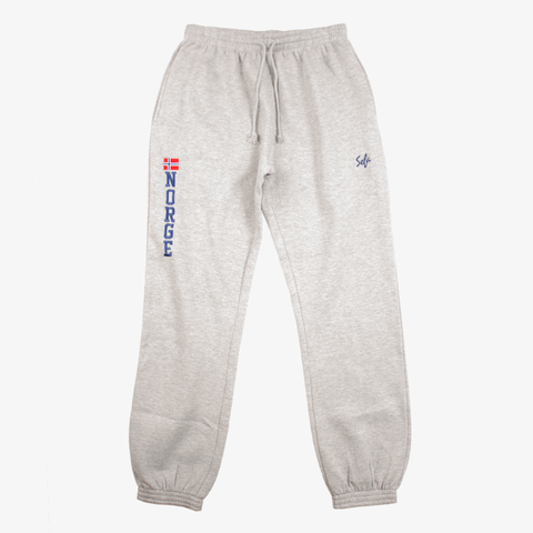 Embroidered Gray Sweatpant