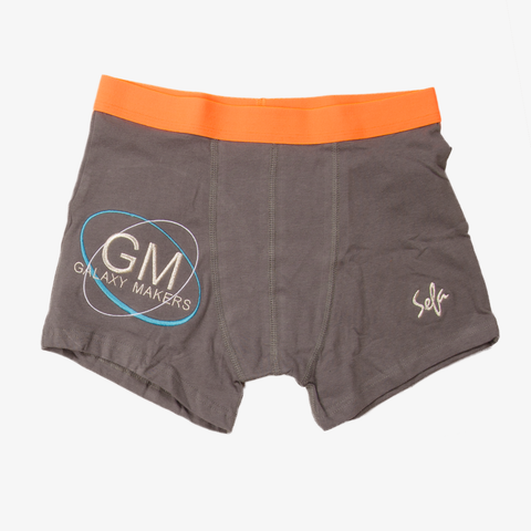 Orange Gray Galaxy Makers Boxers