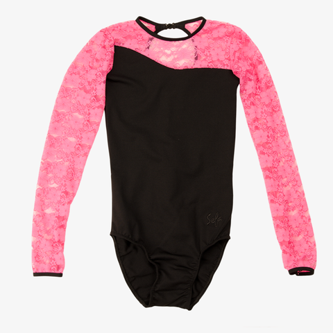 Gymnastic/Turn Drakt Pink/Black