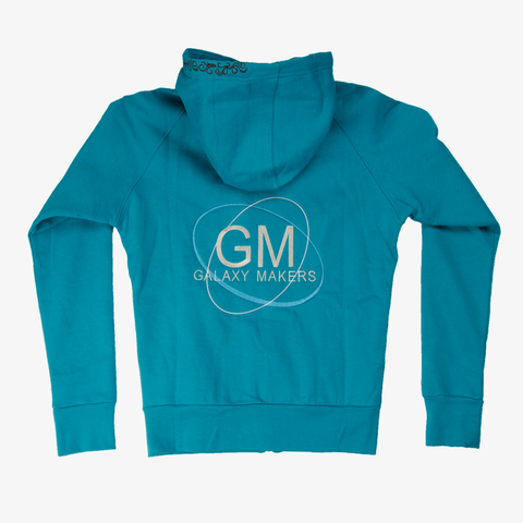 Galaxy Makers Turquoise Hoodie Jacket