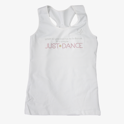 Just Dance White Tank Top