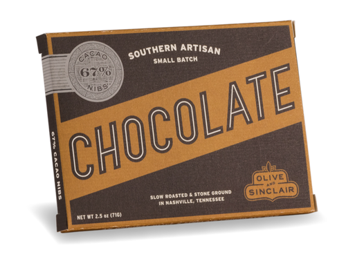 Olive & Sinclair Cocao Nib Chocolate Bar