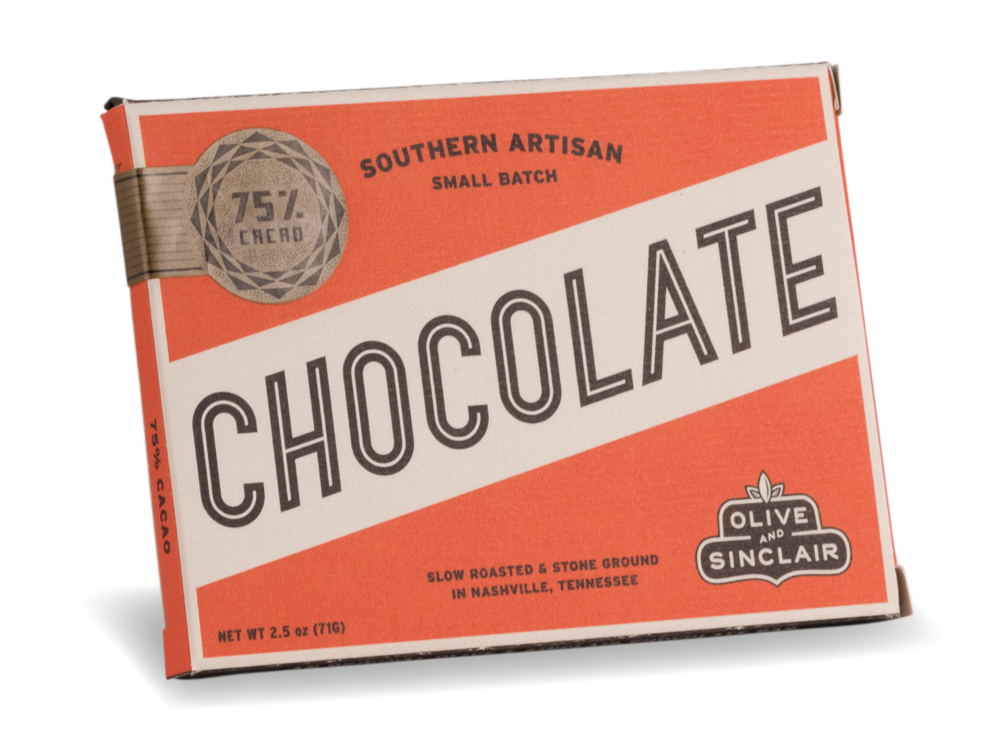 Olive & Sinclair 75% Cacao Chocolate Bar
