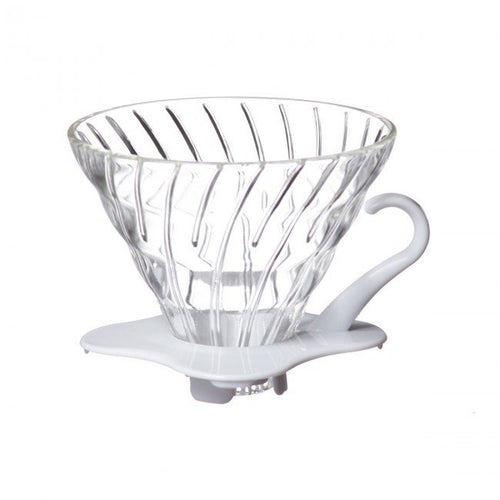 Hario V60 Glass Coffee Dripper in White