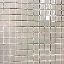 Tile Mosaic 1x1 DB Illustrations Oyster Solid A-Grade