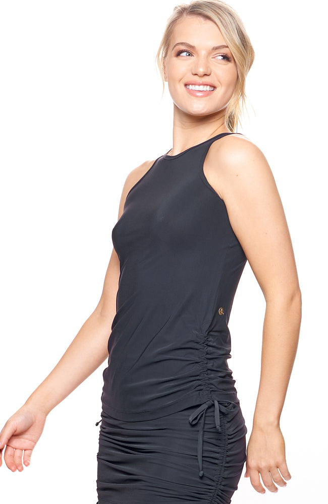 I'm In Control Tank Beautiful Black front view tennis dresses