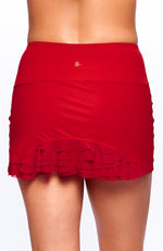 Cute as a Bunny Skirt Rosso back view tennis dresses