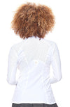 Back view of tennis outfits women Top white color Top
