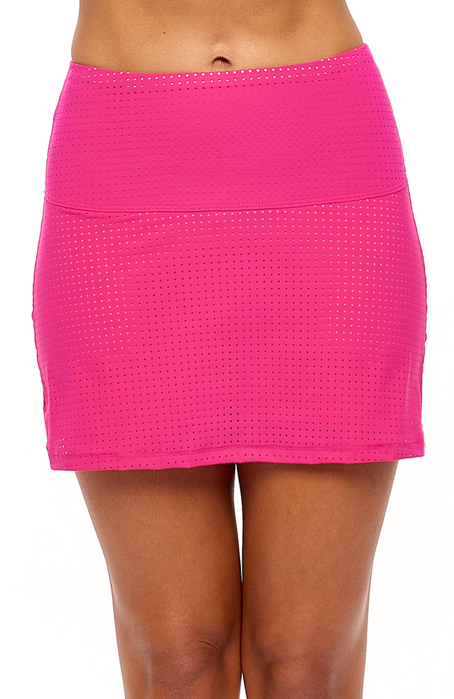 Cute as a Bunny Skirt Hot Pink tennis outfits front view