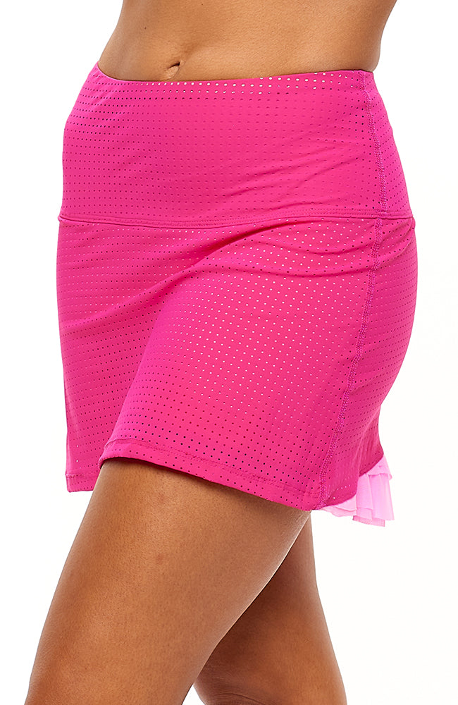 Cute as a Bunny Skirt Hot Pink tennis dresses side view