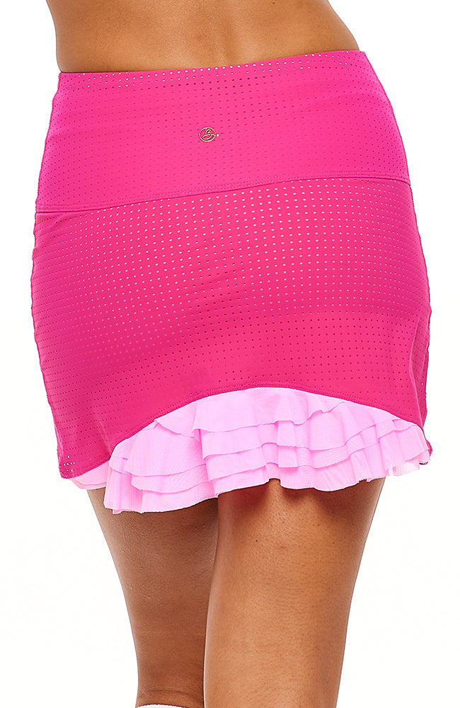 Cute as a Bunny Skirt Hot Pink tennis outfits women back view