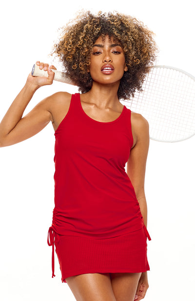 I'm In Control Tank Rosso front view tennis apparel brands