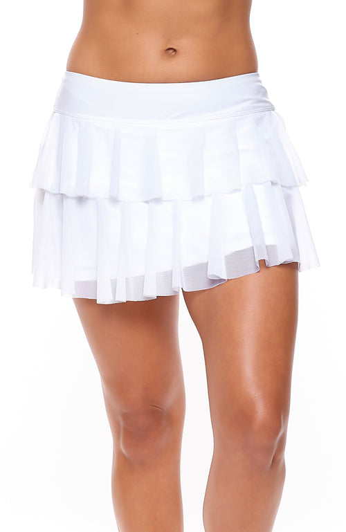 tennis outfits women brand White Skirt Front view