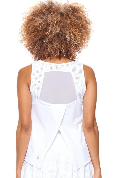 Back view of Tank top for women tennis apparel