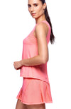 tennis clothes for women apparel  Flamingo pink color with Side view
