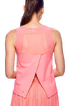 Back view of Pink Flamingo tank top Ideal tennis clothes for women