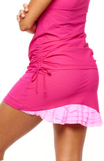 Cute as a Bunny Skirt Hot Pink tennis clothes back view