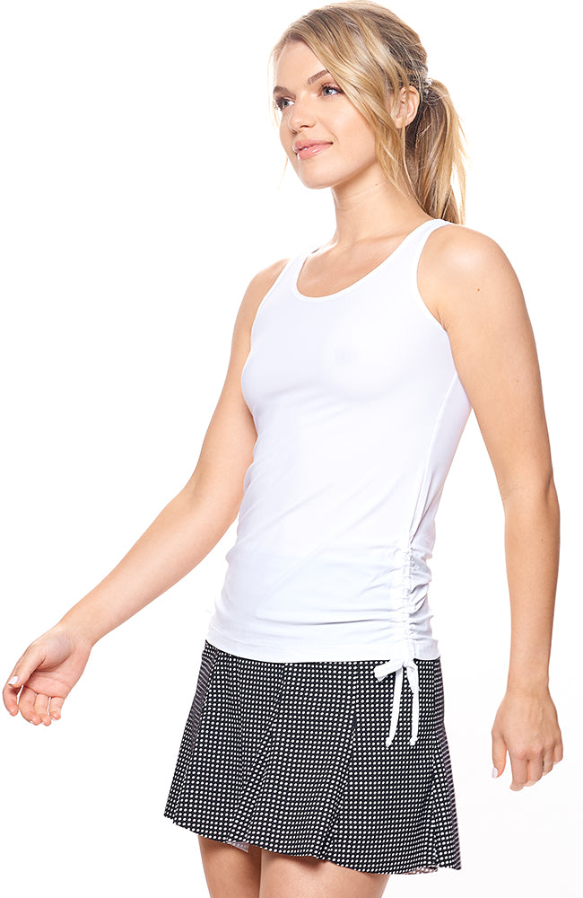 I'm In Control Tank Cloud White front view tennis dresses