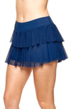 tennis outfits women royal Blue Blue skirt Side view