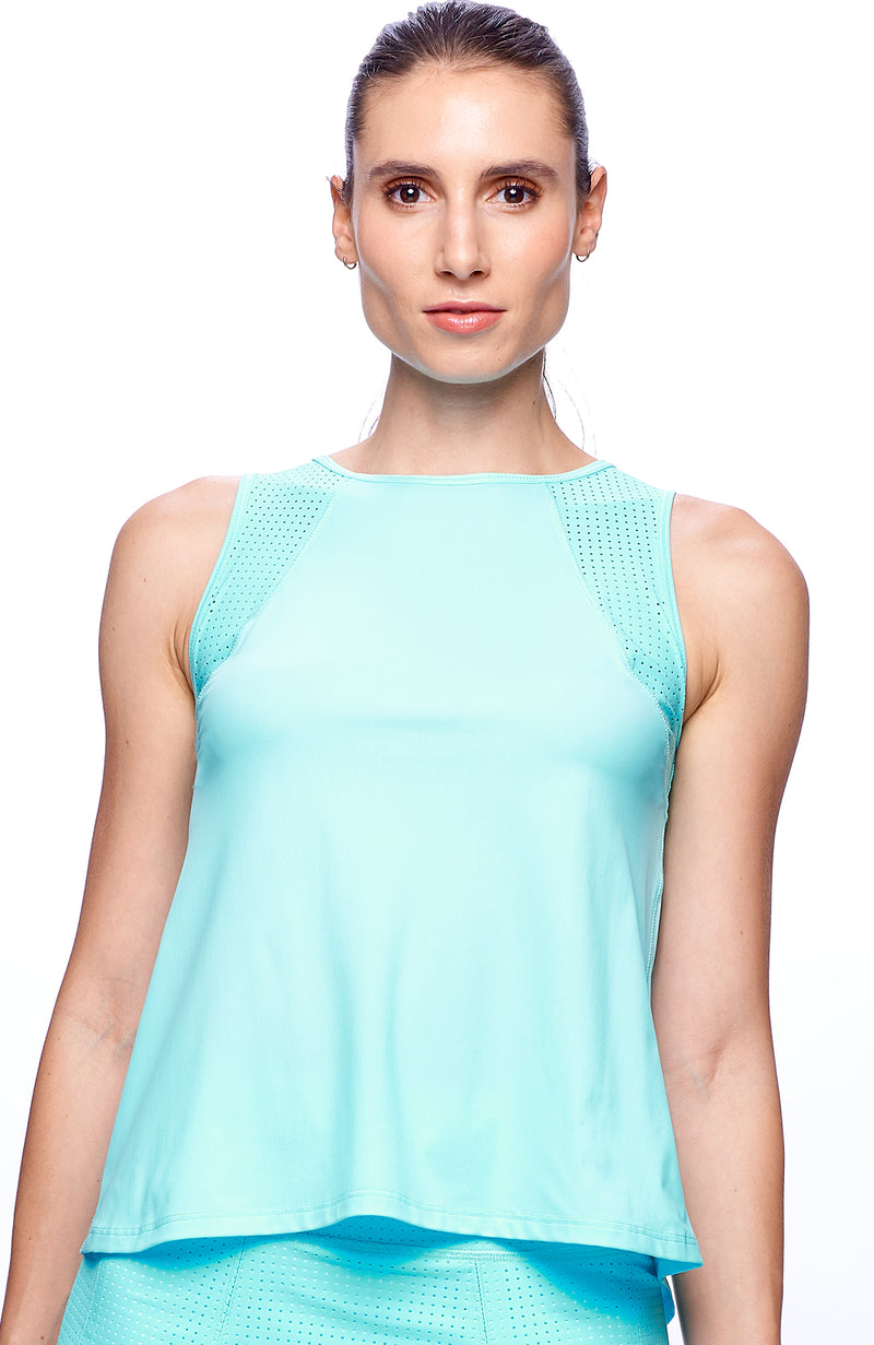 Swing tank aqua color tennis clothes for women