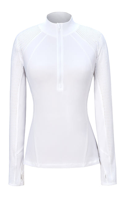 Grace 1/2 Zip Top Cloud White