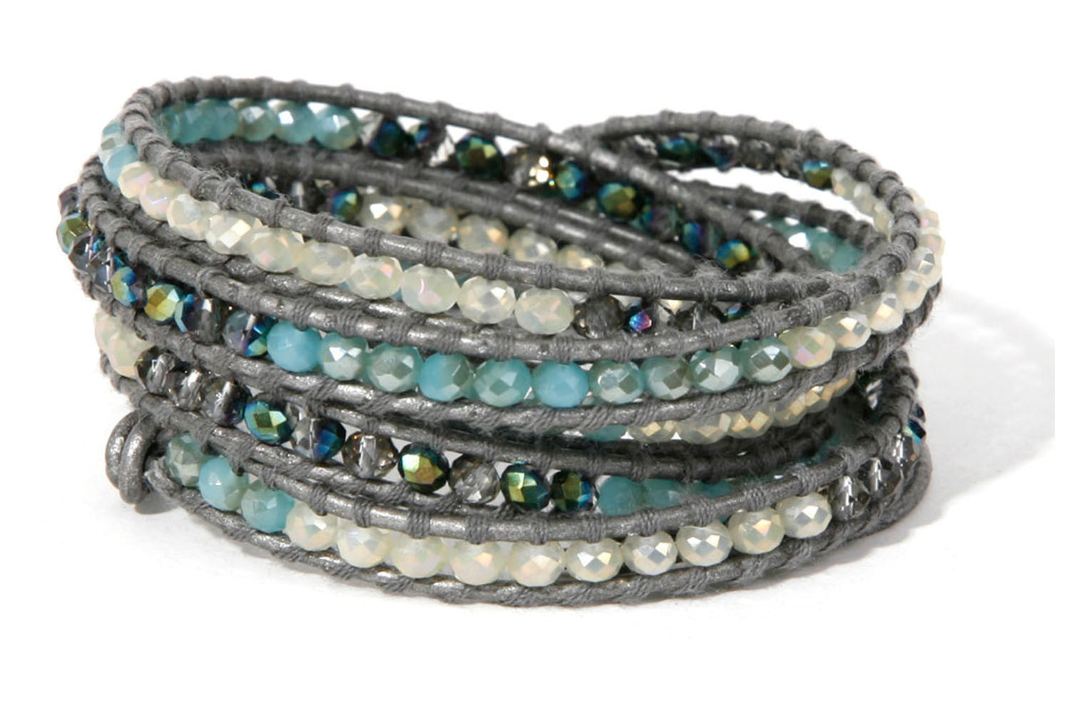 htm sparkly bead wrap p bracelet leather mint views by shamelessly alternative