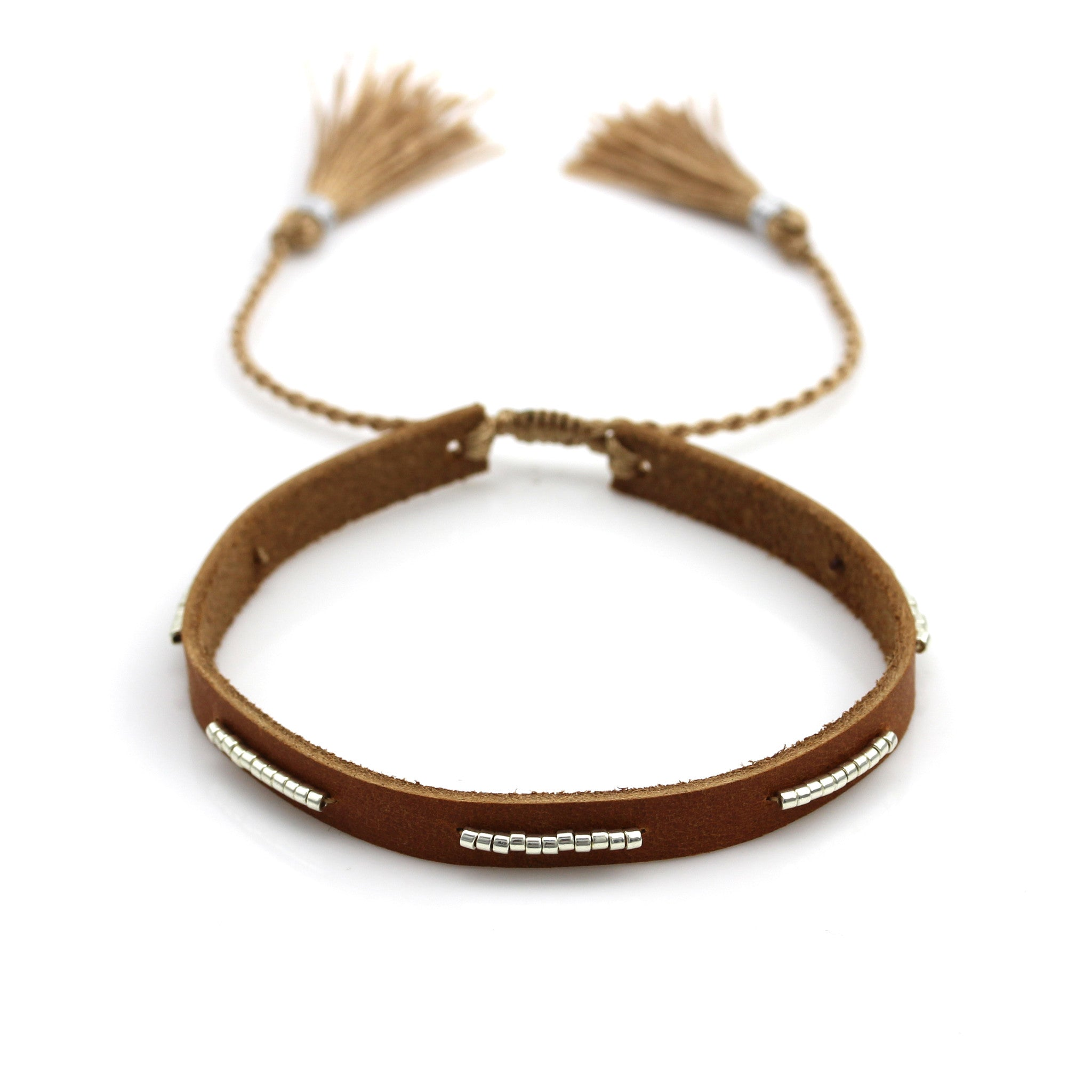 saddle double wrap silver brown russet sterling bangle leather hiho bracelets on bracelet bangles