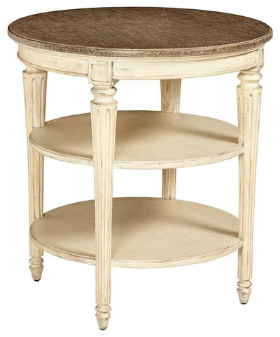 European Cottage-Round End Table
