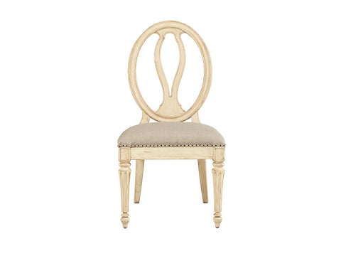 European Cottage-Side Chair, Vintage White