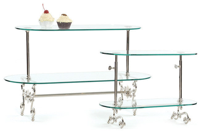 Large Two Tier Adjustable Pastry Stand