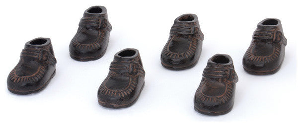 Kids Shoes, Bronze, Set of 6