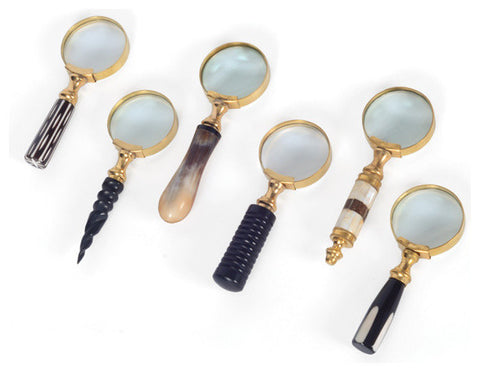 Brass Liberty Magnifiers, Set of 6