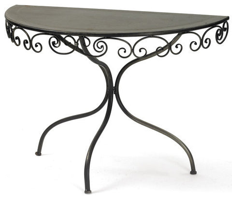 Swirley Demilune Table